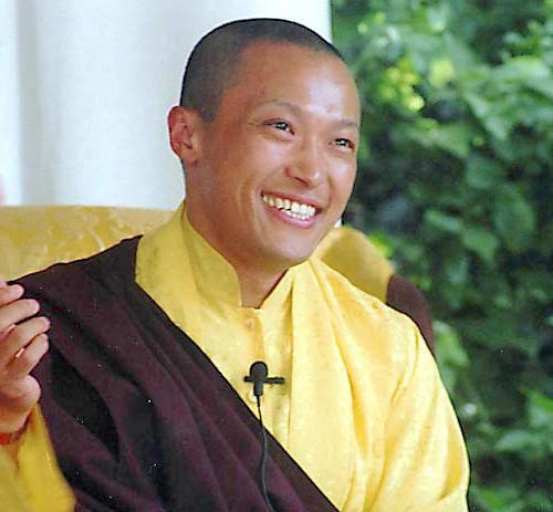 Sakyong in gold